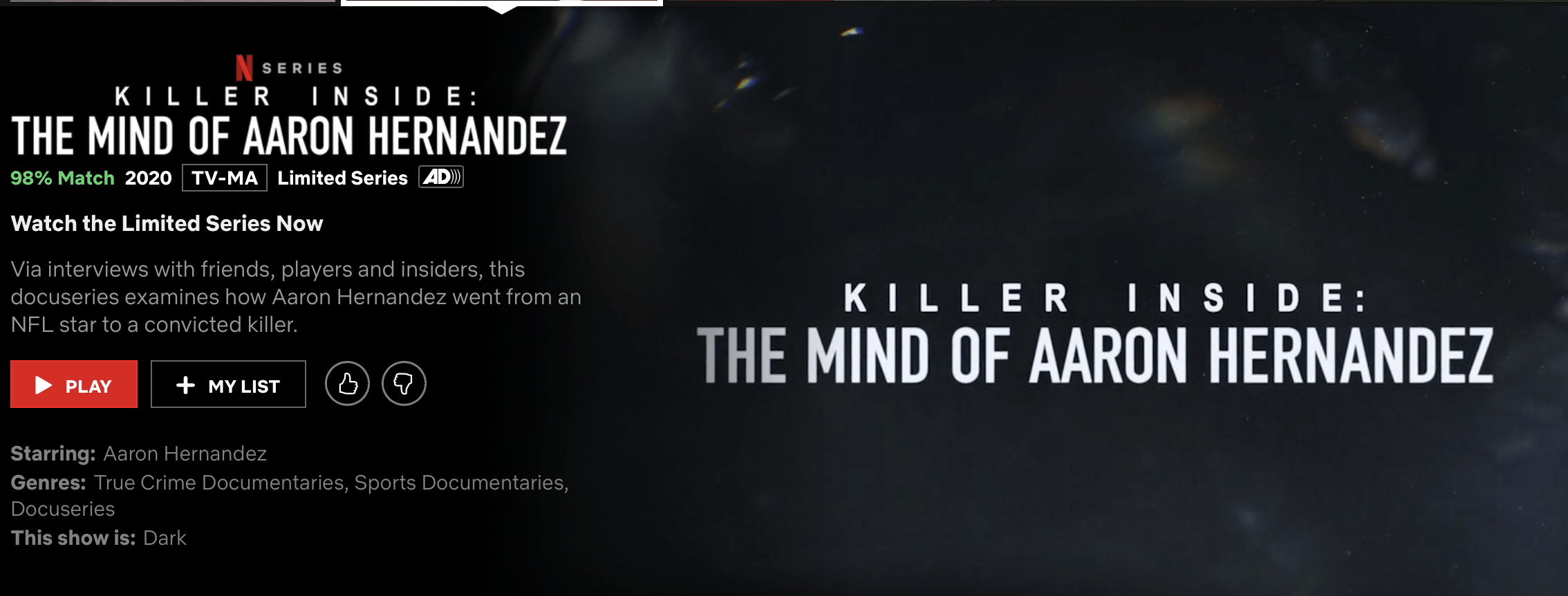 Killer Inside: The Mind of Aaron Hernandez challenges the American dream