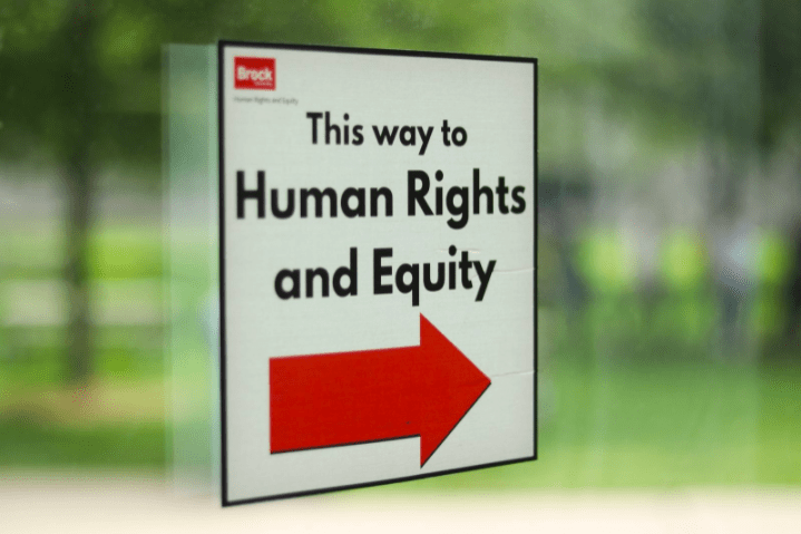 Brock Human Rights and Equity shares messages of support across campus